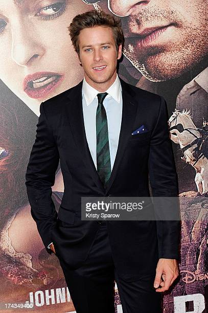 Armie Hammer attends the Paris premiere of 'The Lone Ranger' at Cinema UGC Normandie on July 24 2013 in Paris France
