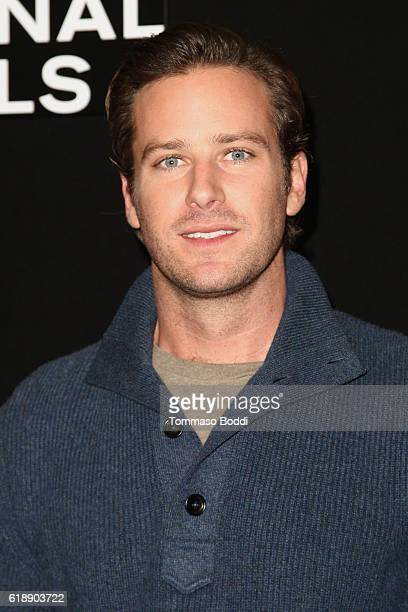 Armie Hammer attends the photo call for Focus Features' 'Nocturnal Animals' at Four Seasons Hotel Los Angeles at Beverly Hills on October 28 2016 in...