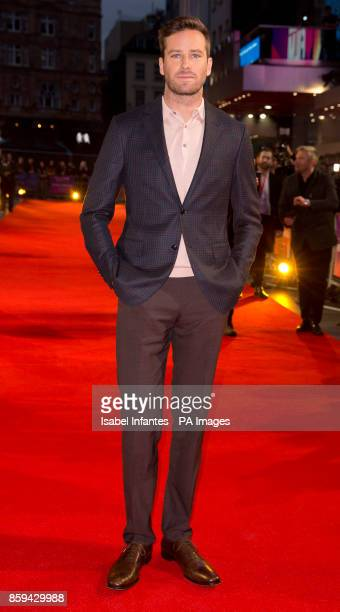 Armie Hammer attends the premiere of Call Me By My Name as part of the BFI London Film Festival at Odeon Leicester Square London