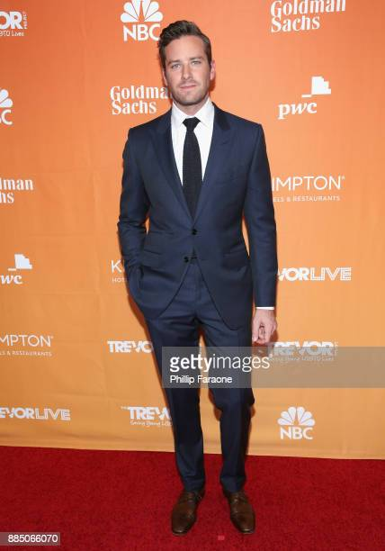 Armie Hammer attends The Trevor Project's 2017 TrevorLIVE LA Gala at The Beverly Hilton Hotel on December 3 2017 in Beverly Hills California