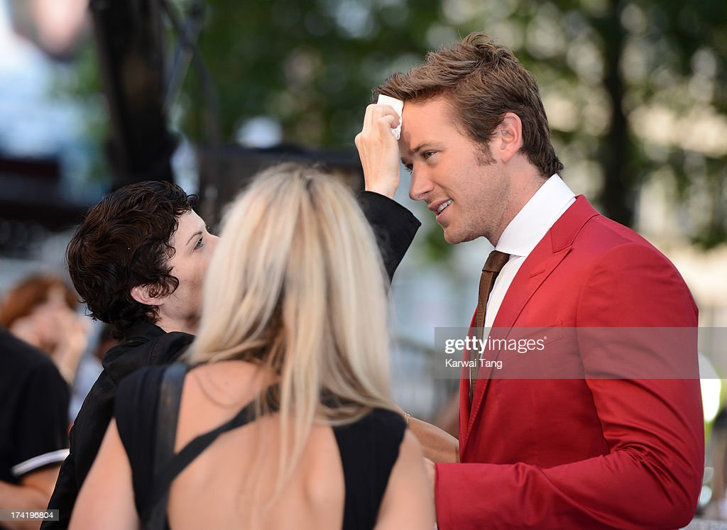 Armie Hammer attends the UK Premiere of 'The Lone Ranger' at Odeon Leicester Square on July 21, 2013 in London, England.