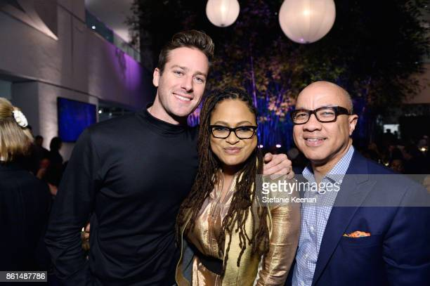 Armie Hammer Ava DuVernay and Darren Walker at the Hammer Museum 15th Annual Gala in the Garden with Generous Support from Bottega Veneta on October...