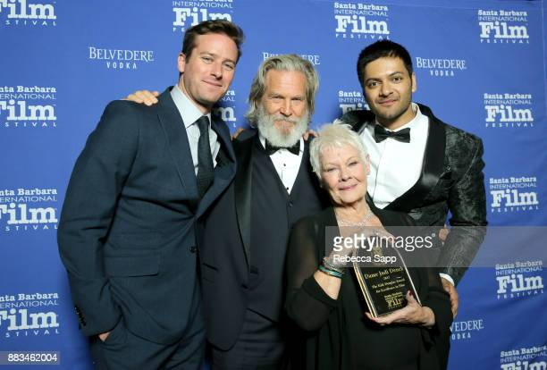 Armie Hammer Jeff Bridges Dame Judi Dench and Ali Fazal attend Santa Barbara International Film Festival Kirk Douglas Award of Excellence Dinner...