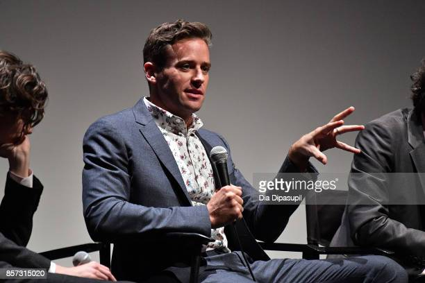 Armie Hammer takes part in a QA following a screening of 'Call Me by Your Name' during the 55th New York Film Festival at Alice Tully Hall on October...