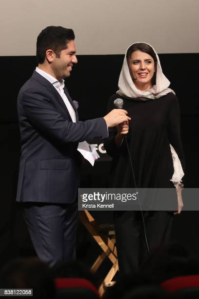 Armin Miladi and Leila Hatami attend Daricheh Cinema NY Features Special Guest Leila Hatami at IFC Center on August 23 2017 in New York City