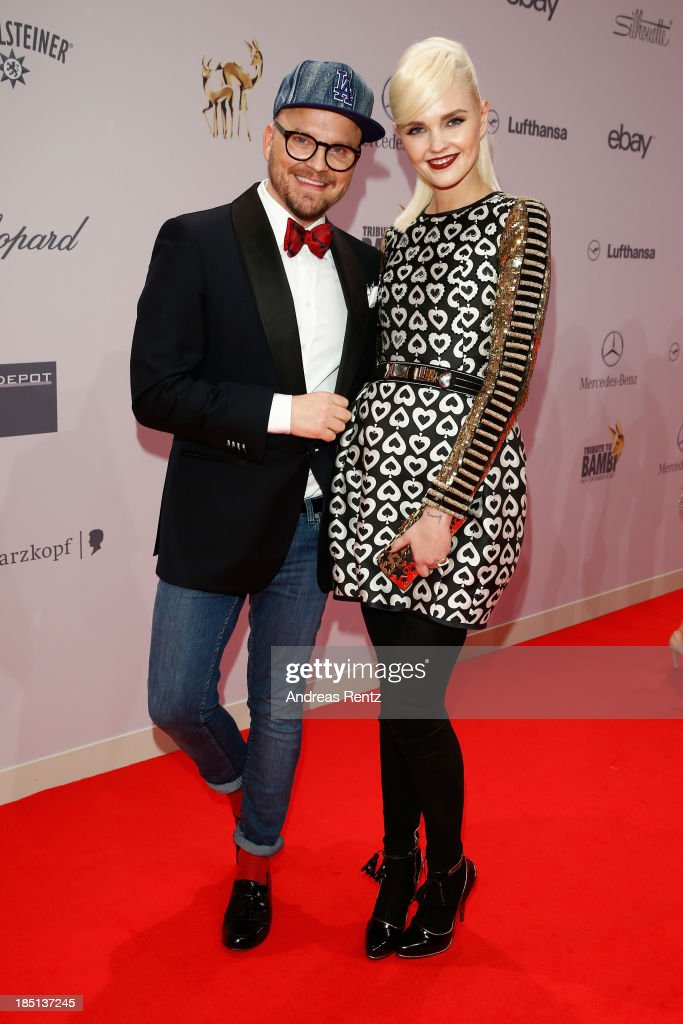 Armin Morbach and Bonnie Strange arrive at Tribute To Bambi at Station on October 17, 2013 in Berlin, Germany.
