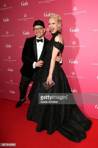 Armin Morbach and Franziska Knuppe during the Gala Spa Awards at Brenners ParkHotel Spa on March 25 2017 in BadenBaden Germany