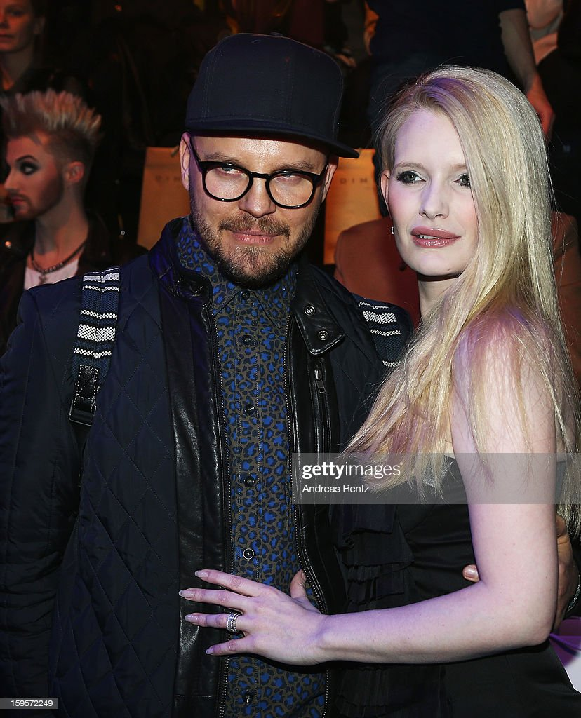 Armin Morbach and Mirja du Mont attend Dimitri Autumn/Winter 2013/14 fashion show during Mercedes-Benz Fashion Week Berlin at Brandenburg Gate on January 16, 2013 in Berlin, Germany.