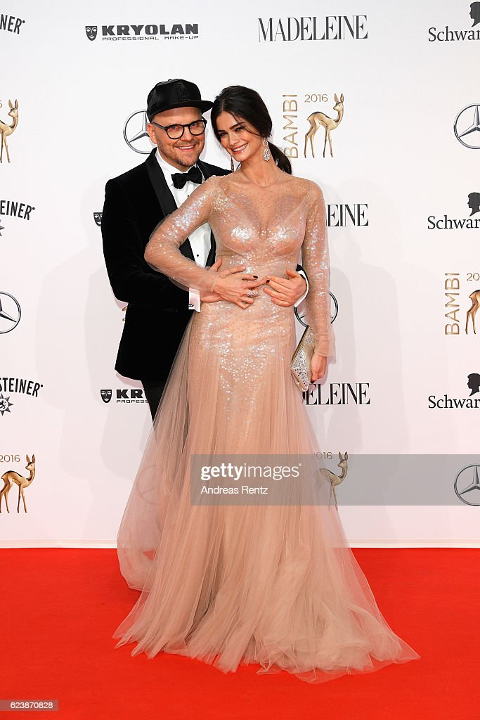 Armin Morbach and Shermine Shahrivar arrive at the Bambi Awards 2016 at Stage Theater on November 17, 2016 in Berlin, Germany.