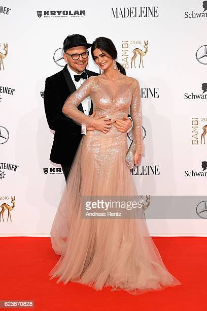 Armin Morbach and Shermine Shahrivar arrive at the Bambi Awards 2016 at Stage Theater on November 17 2016 in Berlin Germany