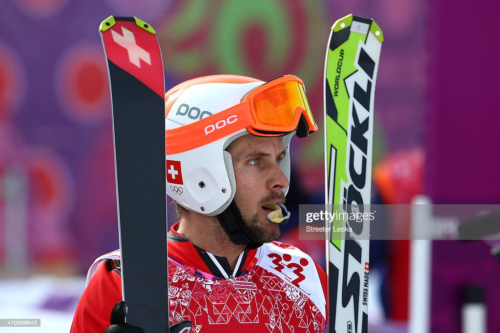 <a gi-track='captionPersonalityLinkClicked' href=/galleries/search?phrase=Armin+Niederer&family=editorial&specificpeople=5670393 ng-click='$event.stopPropagation()'>Armin Niederer</a> of Switzerland looks on during the Freestyle Skiing Men's Ski Cross 1/8 Finals on day 13 of the 2014 Sochi Winter Olympic at Rosa Khutor Extreme Park on February 20, 2014 in Sochi, Russia.