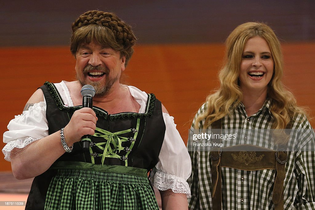 Armin Rohde and Diana Amft attend Wetten, dass..? tv show on November 09, 2013 in Halle an der Saale, Germany.
