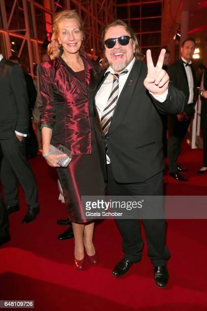 Armin Rohde and his girlfriend Karen Boehne during the Goldene Kamera reception at Messe Hamburg on March 4 2017 in Hamburg Germany