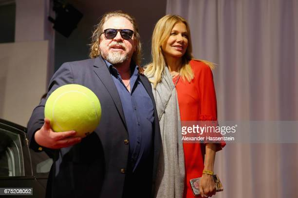Armin Rohde arrives with Ursula Andress at the Players Night of the 102 BMW Open by FWU at Iphitos tennis club on April 30 2017 in Munich Germany