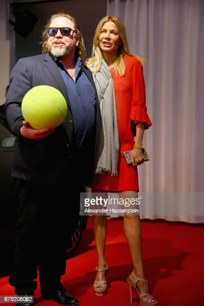 Armin Rohde arrives with Ursula Karven at the Players Night of the 102 BMW Open by FWU at Iphitos tennis club on April 30 2017 in Munich Germany