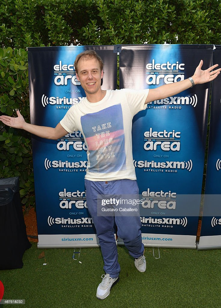 Armin Van Buuren attends the SiriusXM's 'UMF Radio' Broadcast Live from the SiriusXM Music Lounge at W Hotel on March 25, 2015 in Miami, Florida.