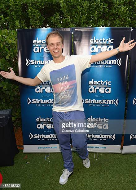 Armin Van Buuren attends the SiriusXM's 'UMF Radio' Broadcast Live from the SiriusXM Music Lounge at W Hotel on March 25 2015 in Miami Florida