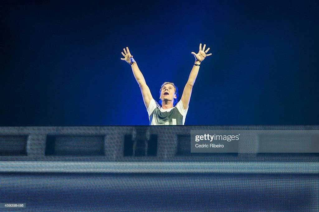 Armin Van Buuren performs at a concert during the Abu Dhabi Formula One Grand Prix on November 21, 2014 in Abu Dhabi, United Arab Emirates.