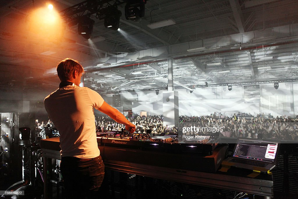 Armin van Buuren performs at Joonbug's New Year's Eve 2013 Celebration With Armin van Buuren at Pier 36 on December 31 2012 in New York City