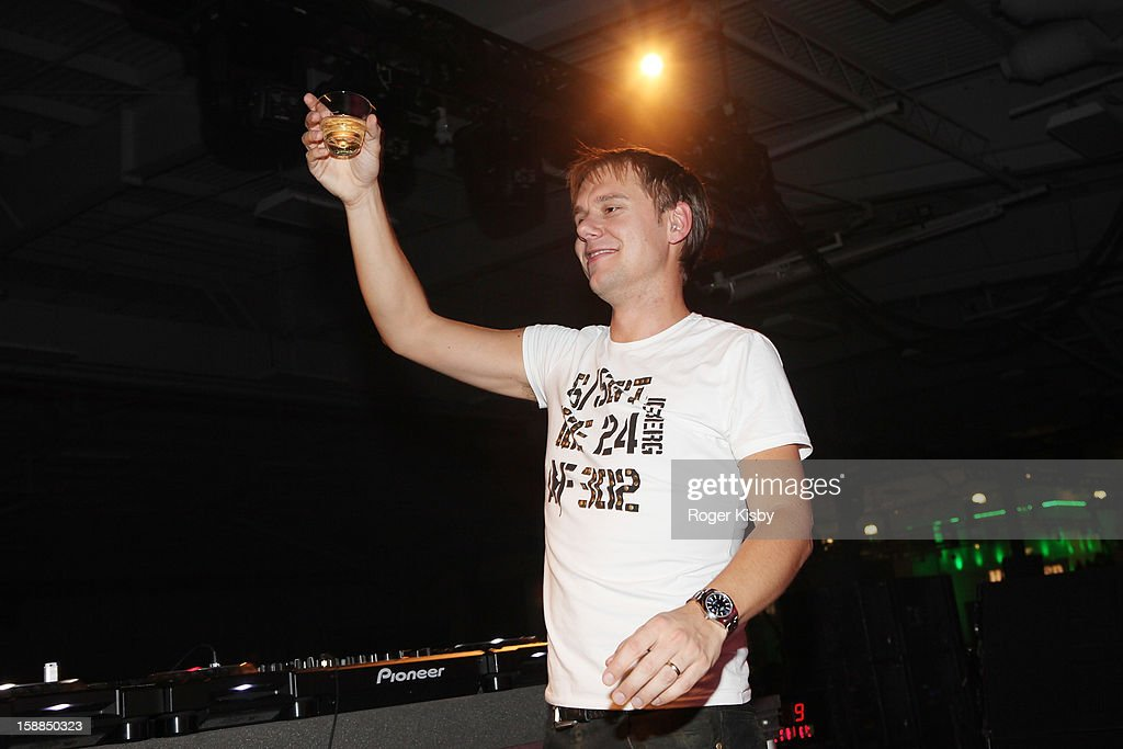 Armin van Buuren performs at Joonbug's New Year's Eve 2013 Celebration With Armin van Buuren at Pier 36 on December 31, 2012 in New York City.