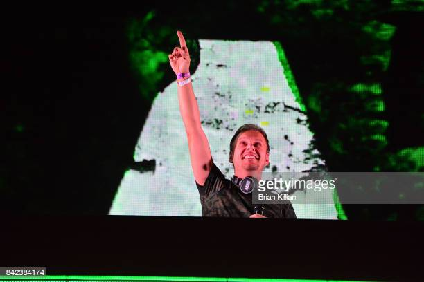 Armin Van Buuren performs at the Electric Zoo Music Festival Day 3 at Randall's Island on September 3 2017 in New York City