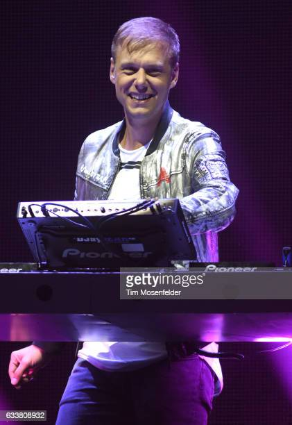 Armin Van Buuren performs during his Armin Only Embrace Tour at ORACLE Arena on February 3 2017 in Oakland California