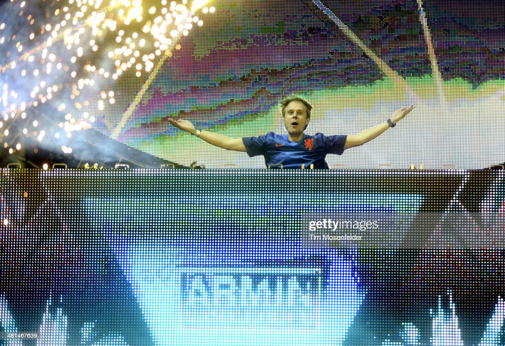 Armin Van Buuren performs during Ultra Music Festival at Bayfront Park Amphitheater on March 29, 2014 in Miami, Florida.