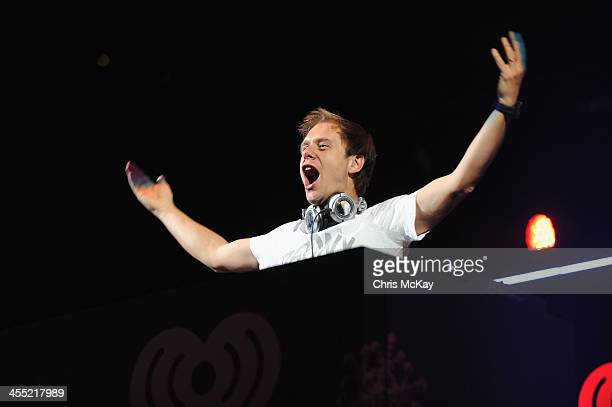 Armin van Buuren performs onstage during Power 961's Jingle Ball 2013 at Philips Arena on December 11 2013 in Atlanta Georgia