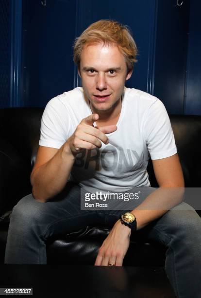 Armin van Buuren poses backstage at Power 961's Jingle Ball 2013 at Philips Arena on December 11 2013 in Atlanta Georgia