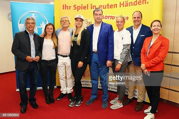 Armin Zitzmann head of Nuernberger Versicherung Annika Beck Peter Soell head of NCP Sabine Lisicki Bavaria Finance Minister Markus Soeder Carina...