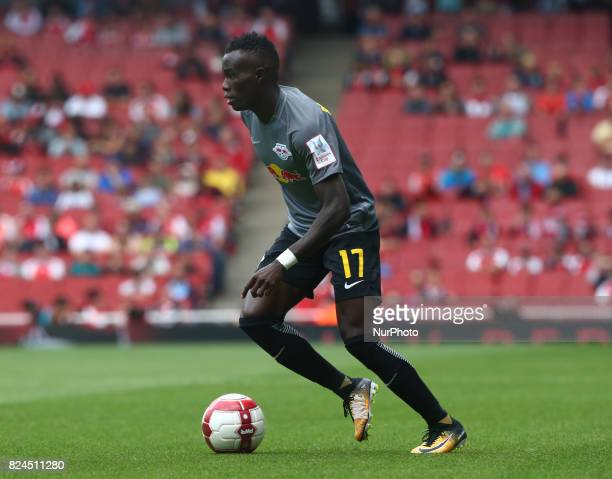 Armindo Bruma of RB Leipzig during Emirates Cup match between RB Leipzig against Benfica at The Emirates Stadium in north London on July 30 the game...