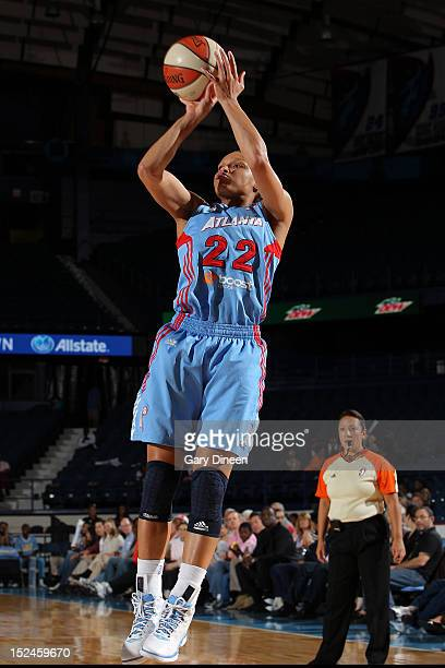 Arminte Price of the Atlanta Dream puts up a shot during the game against the Chicago Sky on September 20 2012 at the Allstate Arena in Rosemont...