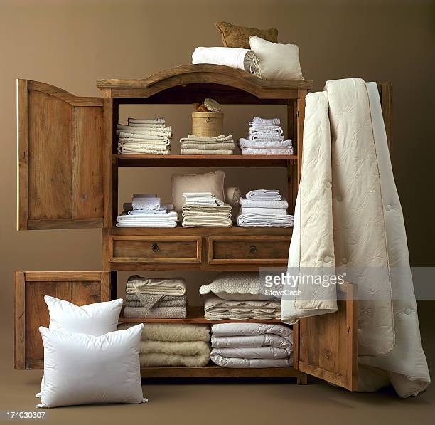 Armoire with linens