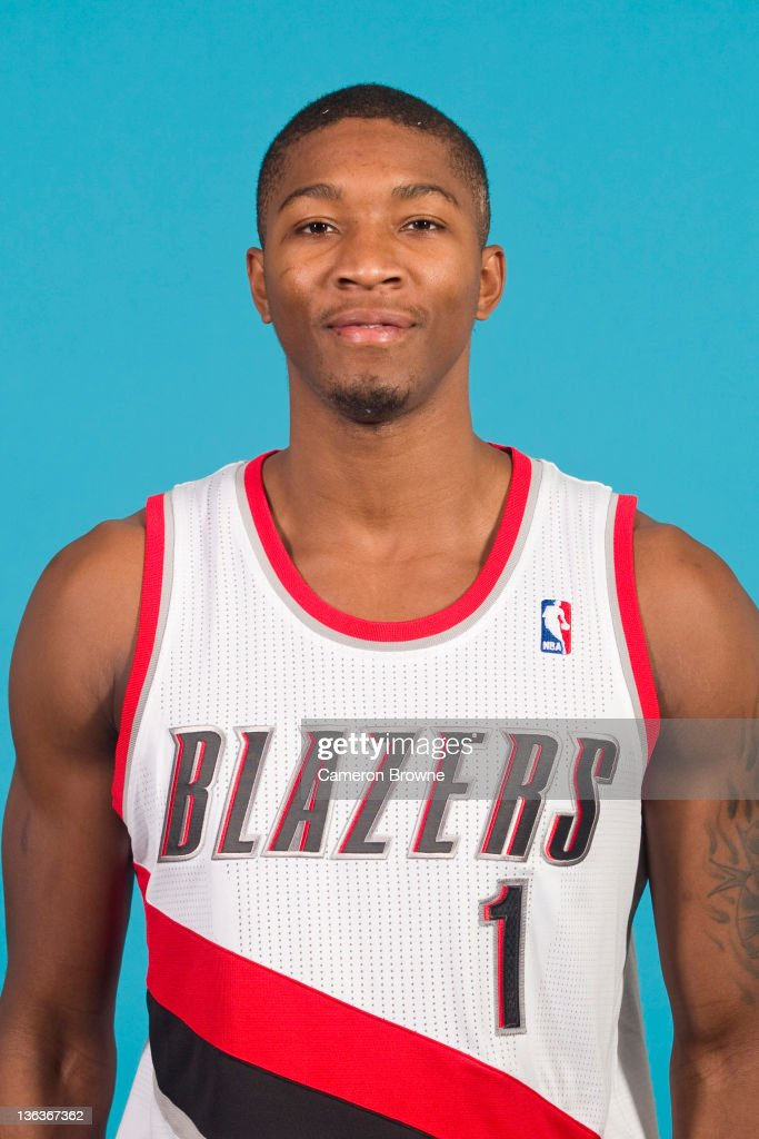 Armon Johnson #1 of the Portland Trail Blazers poses for a portrait during Media Day on December 16, 2011 at the Rose Garden Arena in Portland, Oregon.