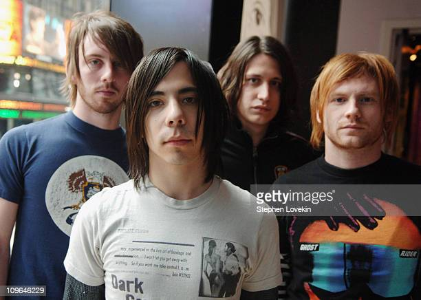 Armor For Sleep during Armor For Sleep 10 Years and TI Visit MTV2 March 24 2006 at MTV Studios in New York City NY United States