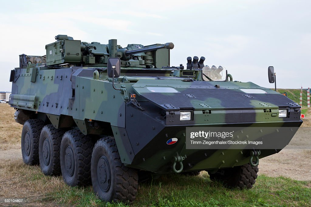 Armored vehicle of the Czech Army, Hradec Kralove, Czech Republic.