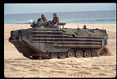 Armored Vehicle on the Beach