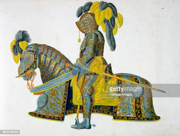 Armour worn by the Elector Christian I 1842 Christian I was Elector of Saxony from 1586 Plate from A History of the Development and Customs of...