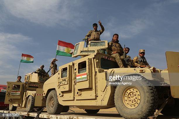 Armoured vehicles belonging to the Iraqi Kurdish Regional Government's peshmerga forces are dispatched to Kirkuk for the planned Havice Operation...