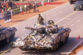 Armoured Vehicles Tanks during Republic Day Parade at Rajpath
