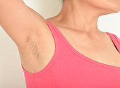 armpits and  Hairy of women