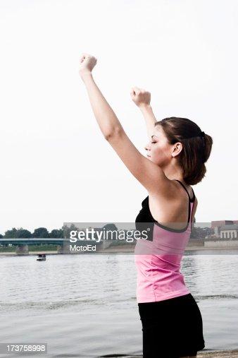 Alzar los brazos medida el cielo