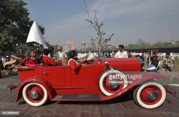Army Chief General Bipin Rawat during the flaggingoff ceremony of the 7th edition of 21 Gun Salute International Vintage Car Rally at India Gate on...