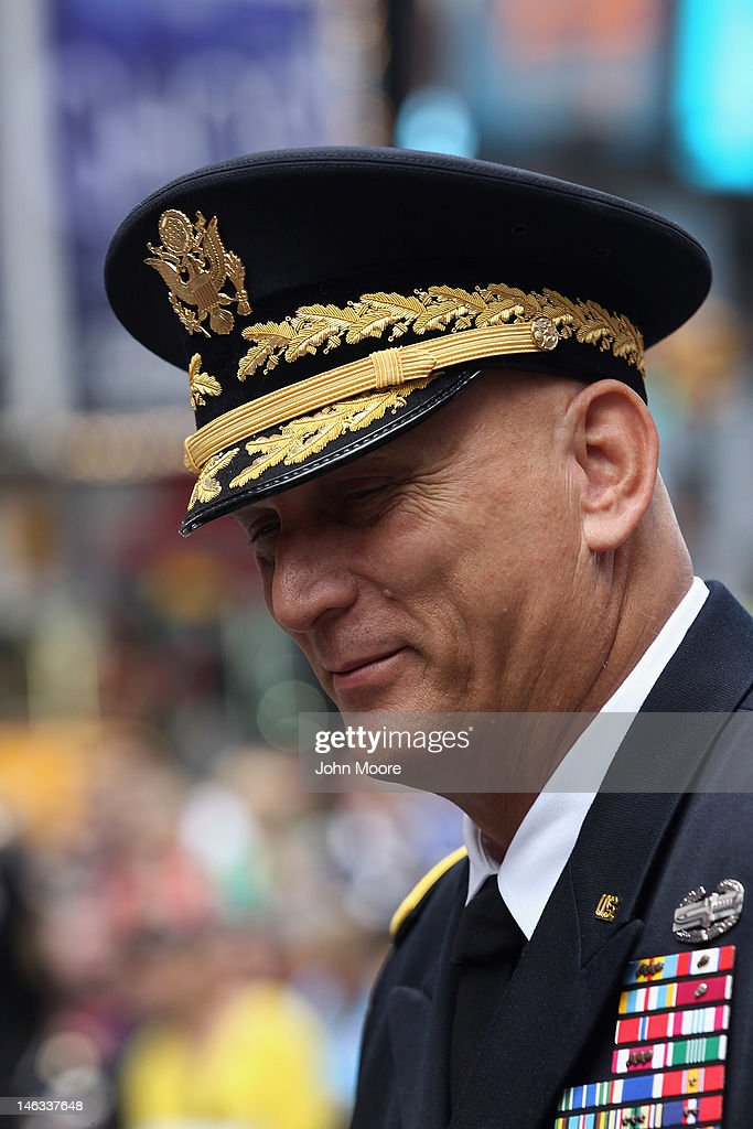 U.S. Army Chief of Staff Gen. Raymond Odierno attends a celebration in Times Square marking the Army's 237th birthday on June 14, 2012 in New York City. Odierno swore 16 new recruits into the Army during the event.