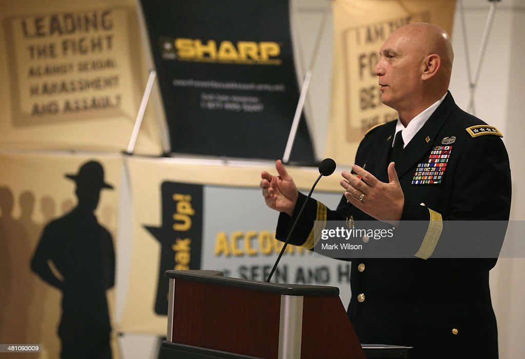 Army Chief of Staff Gen. Raymond Odierno speaks about Sexual Assault in the military during an event at the Pentagon, on March 28, 2014 in Washington, DC. The event was held to highlight the month of April as sexual assault awareness month.