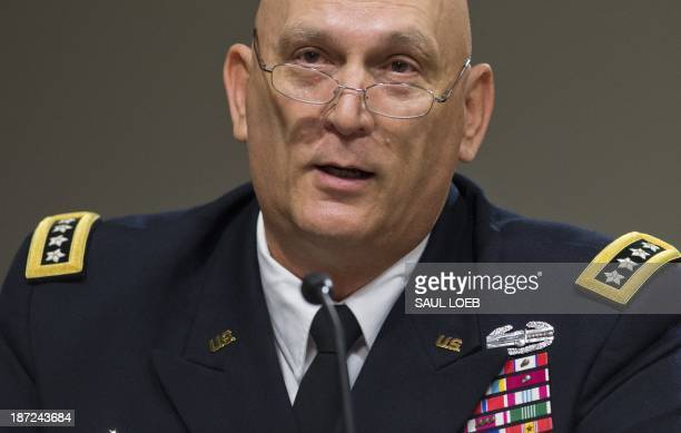 Army Chief of Staff General Raymond Odierno testifies on sequestration effects on military budget and spending during a Senate Armed Services...