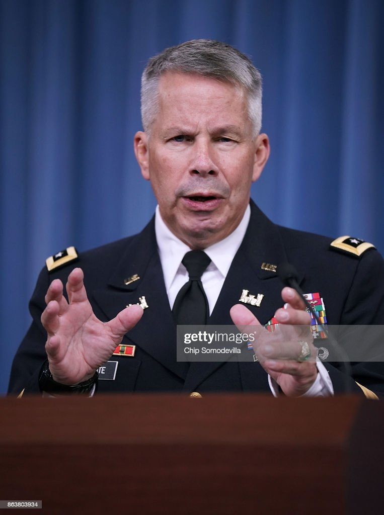 U.S. Army Corps of Engineers Commander Briefs On Hurricane Relief At Pentagon