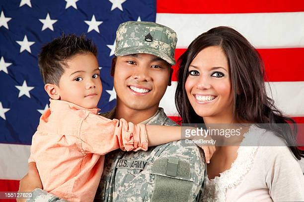 Army Family Series: Young American Soldier & Son