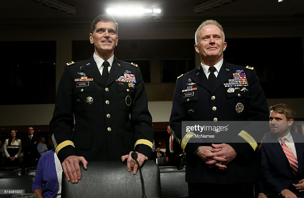 S Army Gen Joseph Votel nominee to be the next commander of the US Central Command and US Army Lt Gen Raymond Thomas III nominee to be the next...