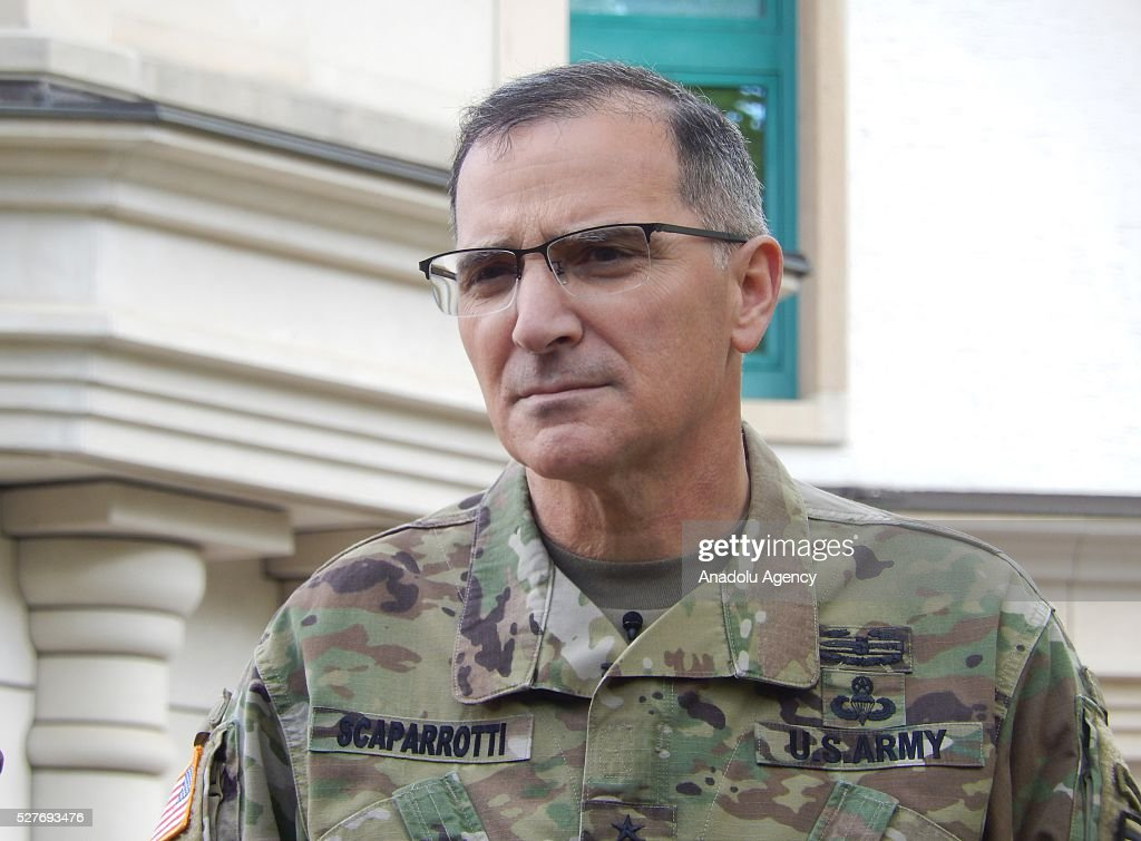 US Army General Curtis Scaparrotti, the new commanding officer of US and NATO troops in Europe, is seen after the change in command at the United States European Command (EUCOM), in Stuttgart, Germany, 03 May 2016.
